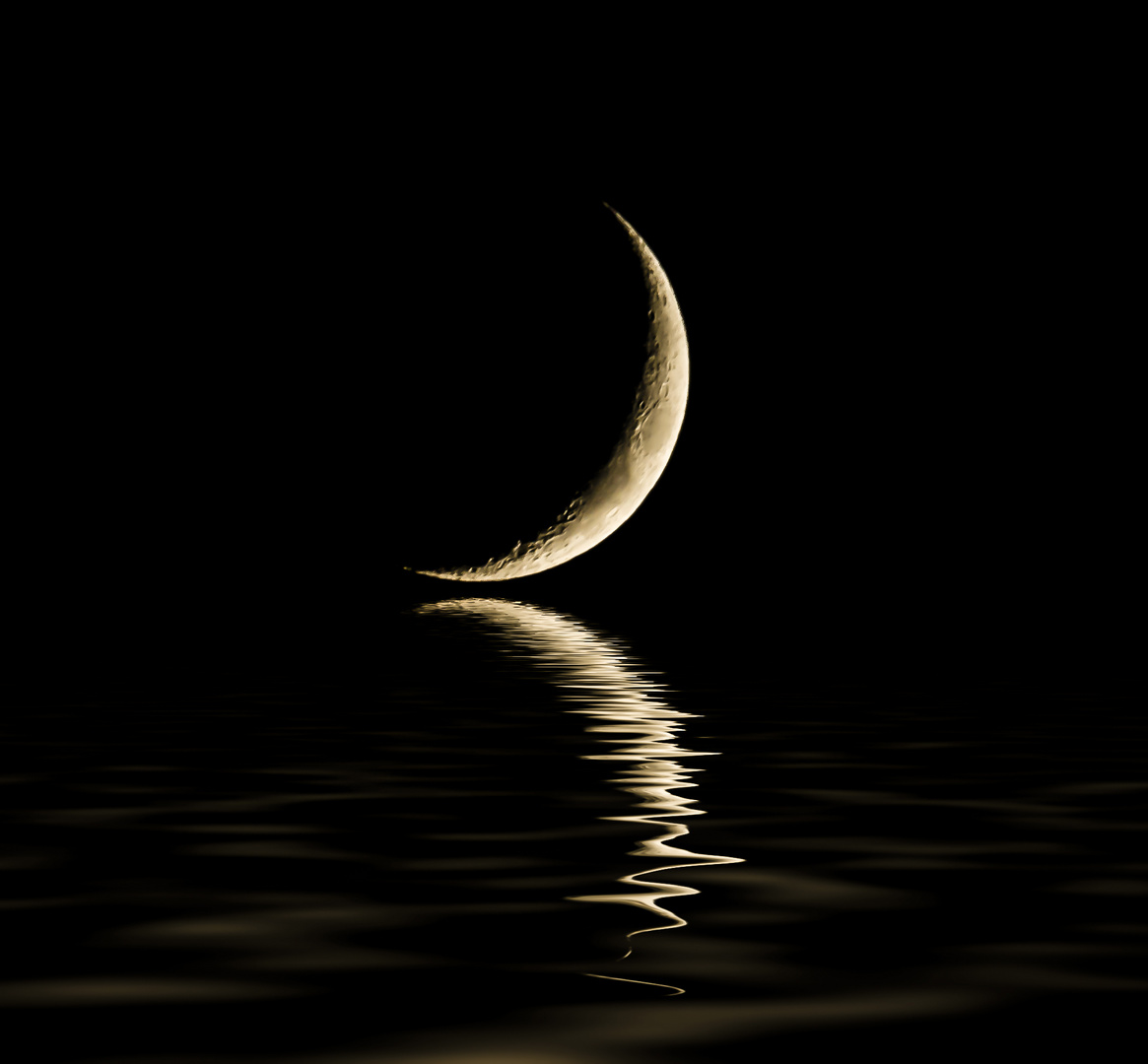 the moon and water !