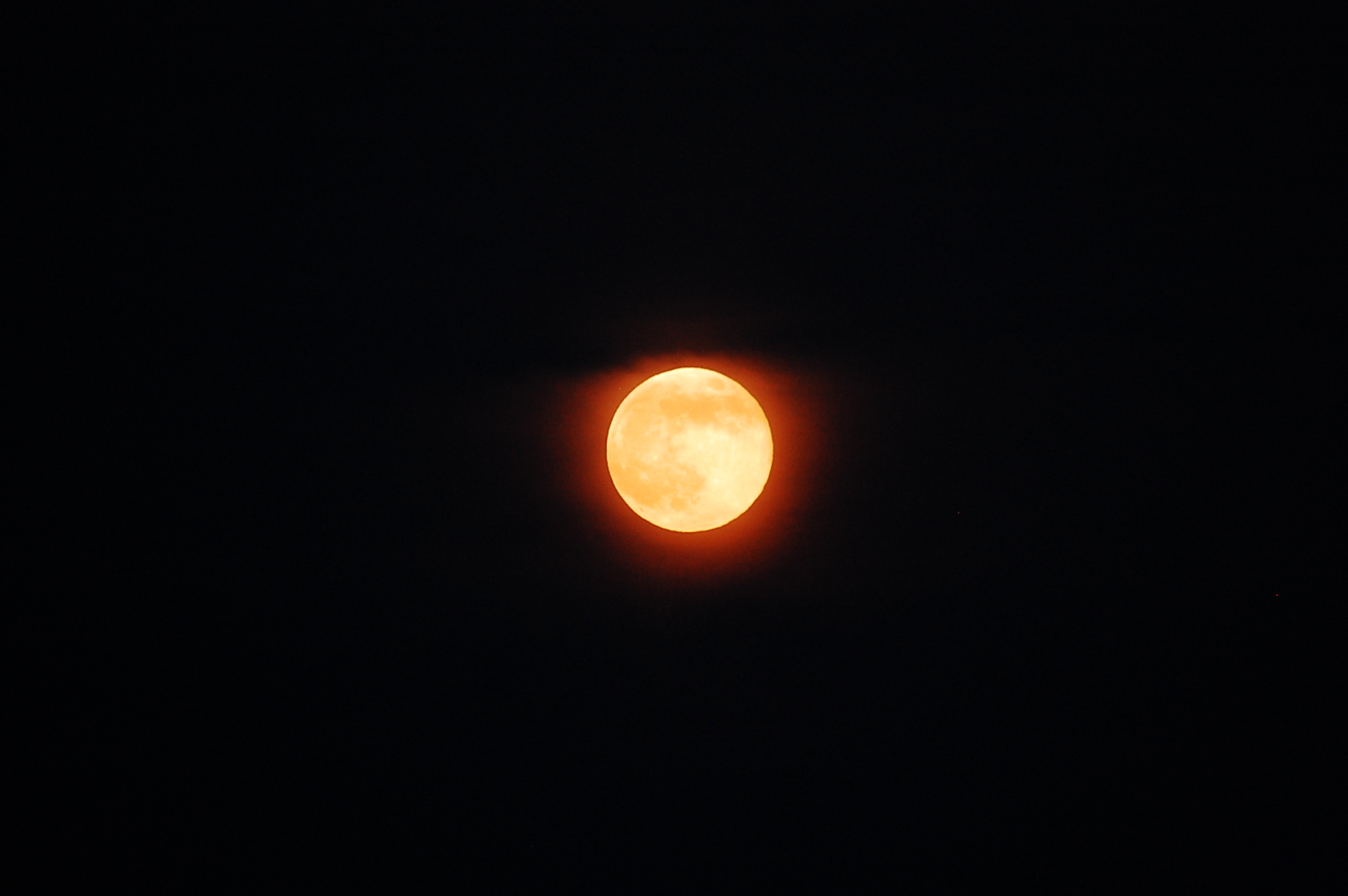 The Moon is on fire