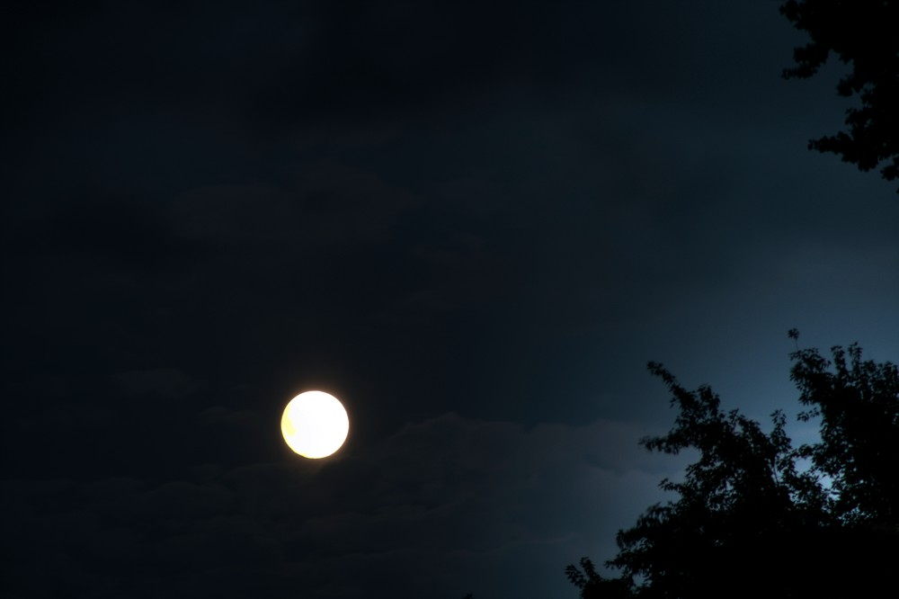 The Moon is shining!