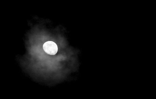 The Moon resting on a Cloud......