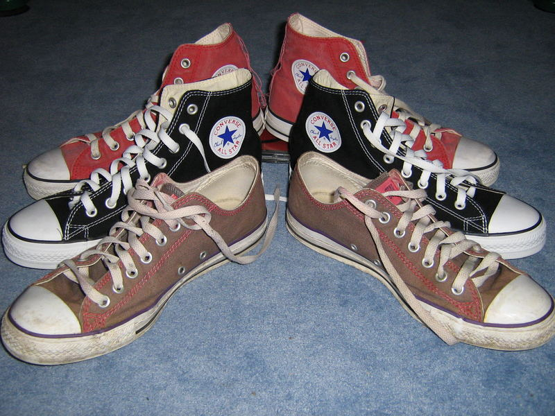 The old and the new Chucks!!!!