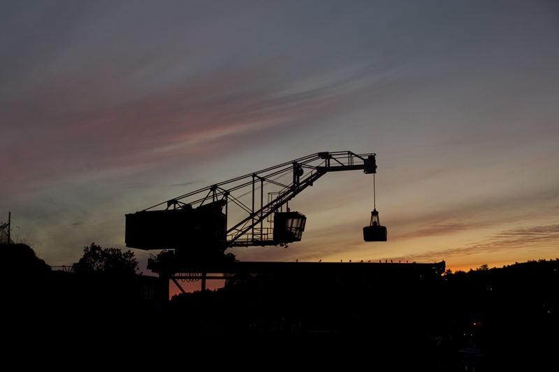 The old coal-storage crane