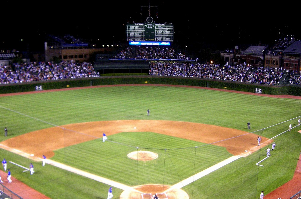 the old wrigley with the cubs