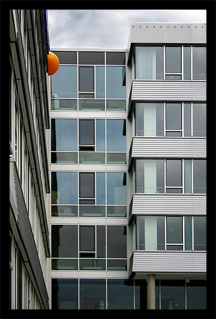 the orange button
