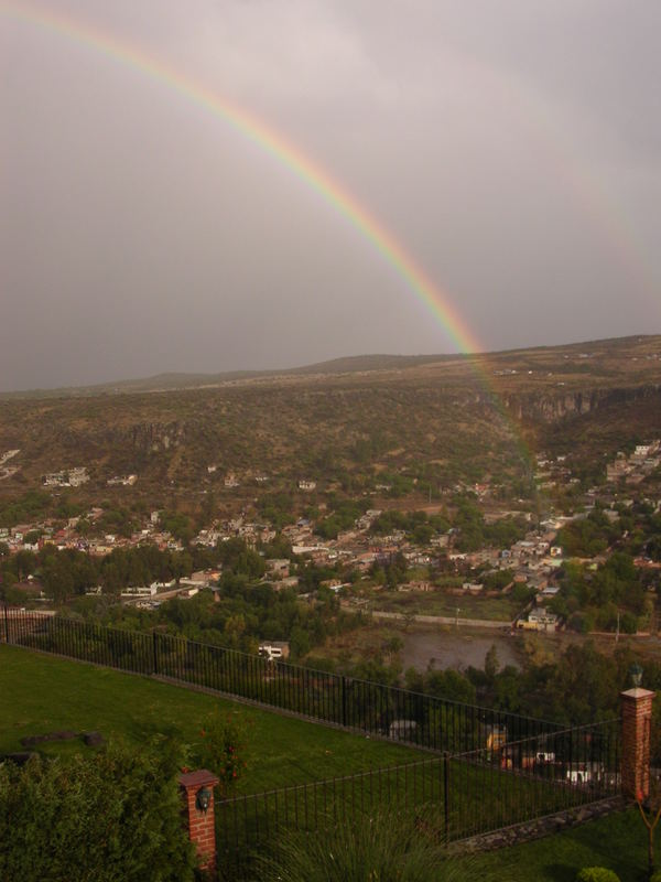 The origin of the rainbow..... from my window