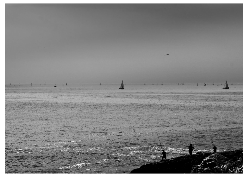 the pleasure of the fishermen.