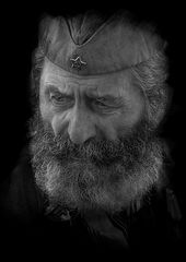 The portrait of an old soldier