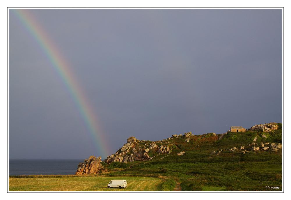 the rainbow van........