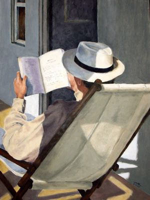 The Reader IV - Acrylics on cardboard (Apr. 2009)