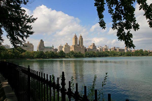 """""""The Reservoir"""" im Central Park an einem sonnigen Septembertag 2014"""