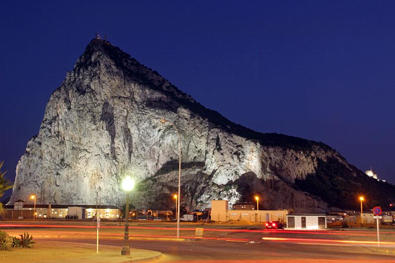 The Rock at night