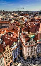 The roofs of Prague