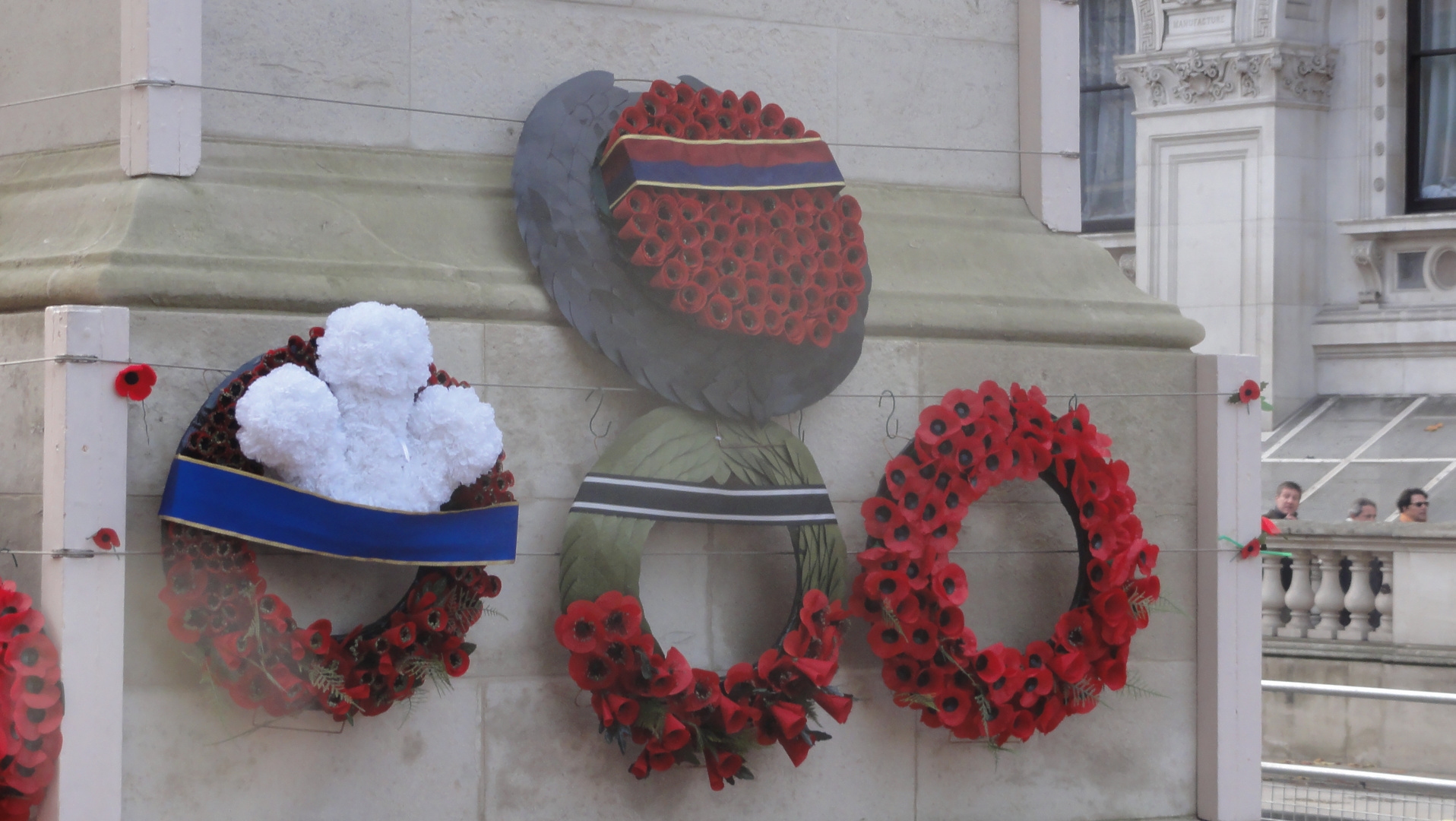 The Royal Poppy Wreaths laid on the Cenotaph in London November 2014