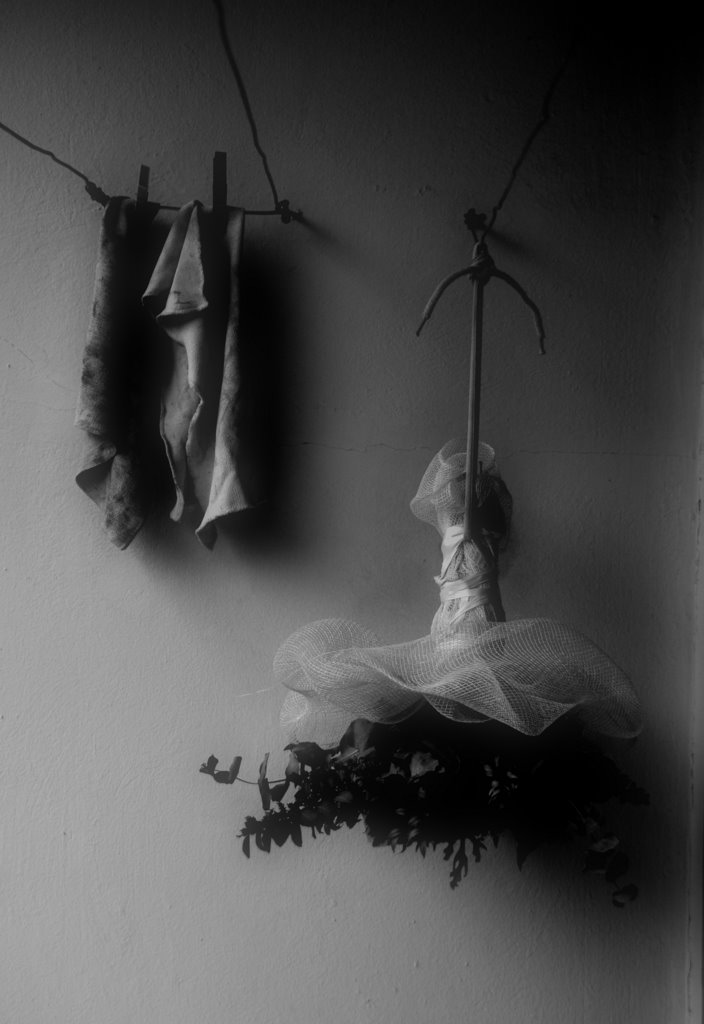 The sad end of a bouquet that hangs