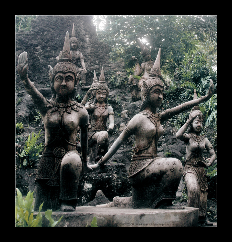 . . . the secret magic buddha garden . . .