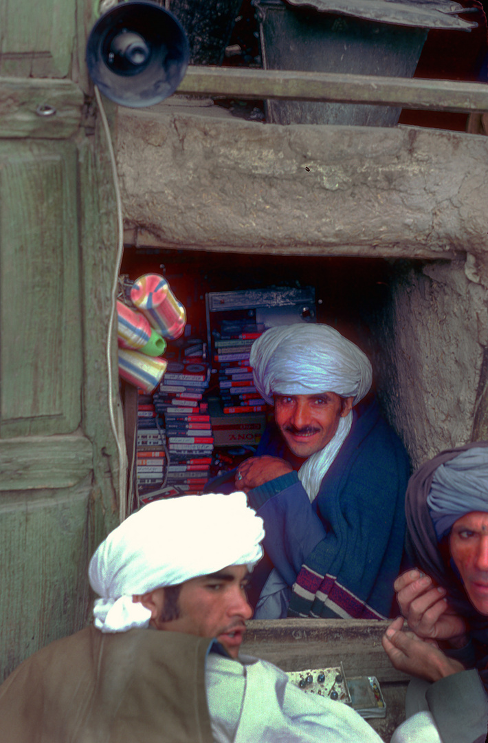 The smallest music shop in Herat