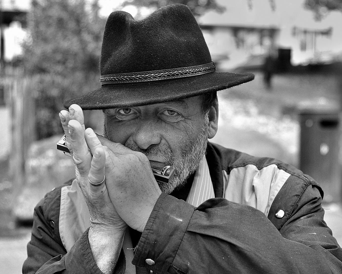 The street musician.