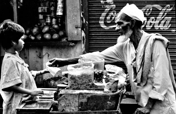 the street stall of mr.biswas