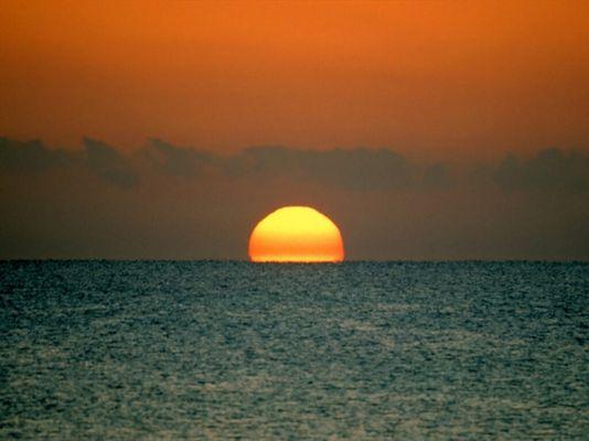 The sun down under
