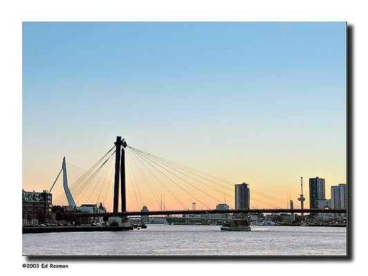 The sun goes down in Rotterdam - The Netherlands