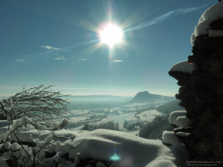 The sunny side of life.... am 2.Weihnachtstag 2010 auf dem Hohenkrähen