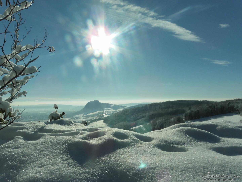 The sunny side of life.... am 2.Weihnachtstag 2010 auf dem Hohenkrähen...pulvriger geht´s nicht