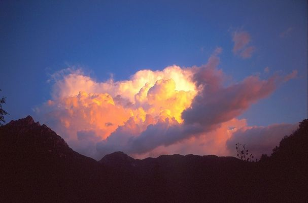 The Ublantis skyline: a colourful summer thunderstorm in the mountains