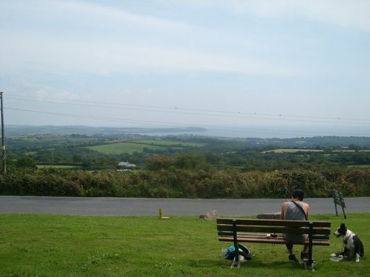 The view to St. Austell.
