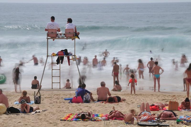 The wave on the beach at Lacanau Ocean, France