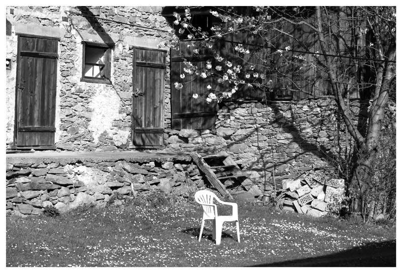 The white chair