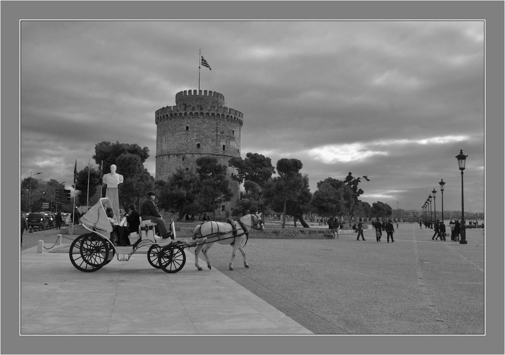 The White Tower (Torre Blanco) en Thessaloniki Grecia