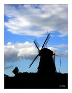 The windmill with Clouds-Sky II