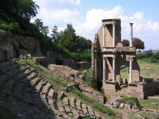 Theater in Volterra, Italien