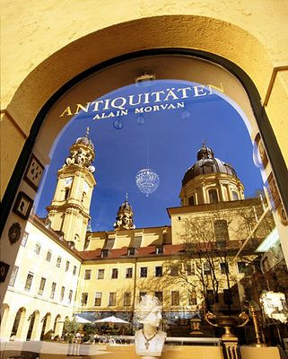 Theatinerkirche's Reflection