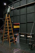 Theatro del Liceu - Aufbau des Bühnenbildes
