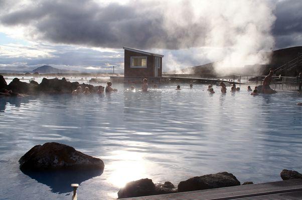 Thermalbad Jarðböð in der Nähe von Reykjahlid, Island