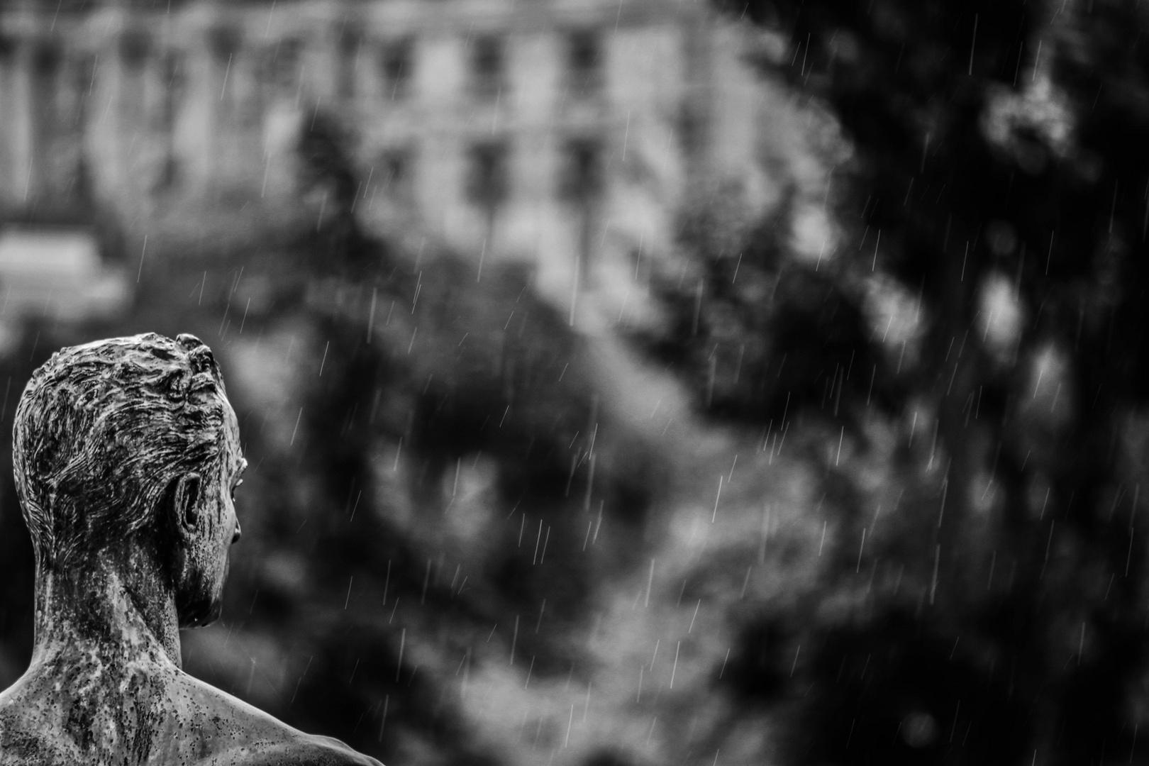 Theseus im Regen