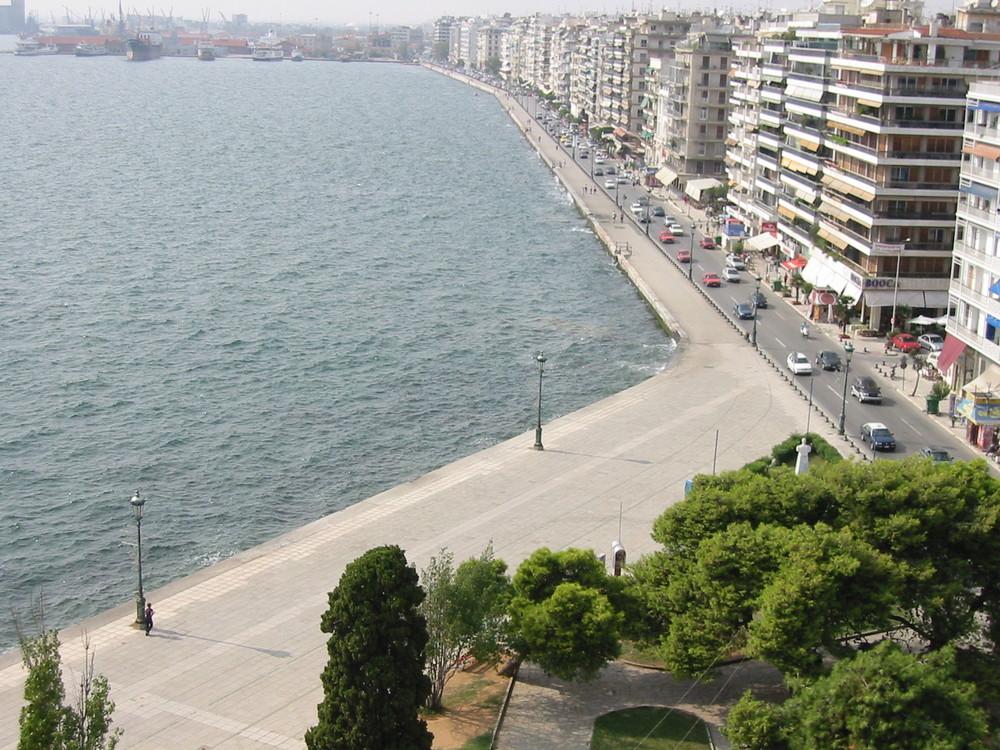 Thessaloniki's Promenade am Meer