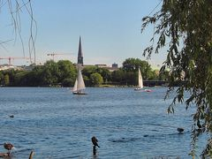 This is Alster lake.