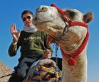 This is my son ( not the camel, the other....)