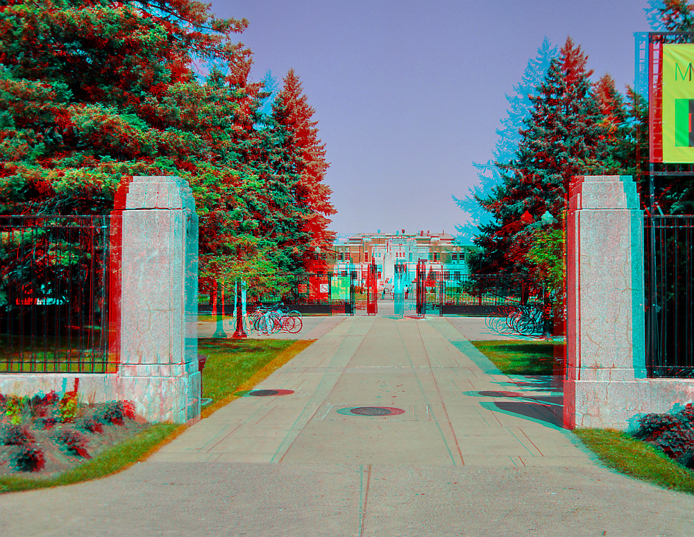 This is the entrance to the Montreal Botanic Garden