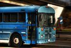 Thomas Built Bus auf der Autobahn A-671 Hochheim Gustavsburg