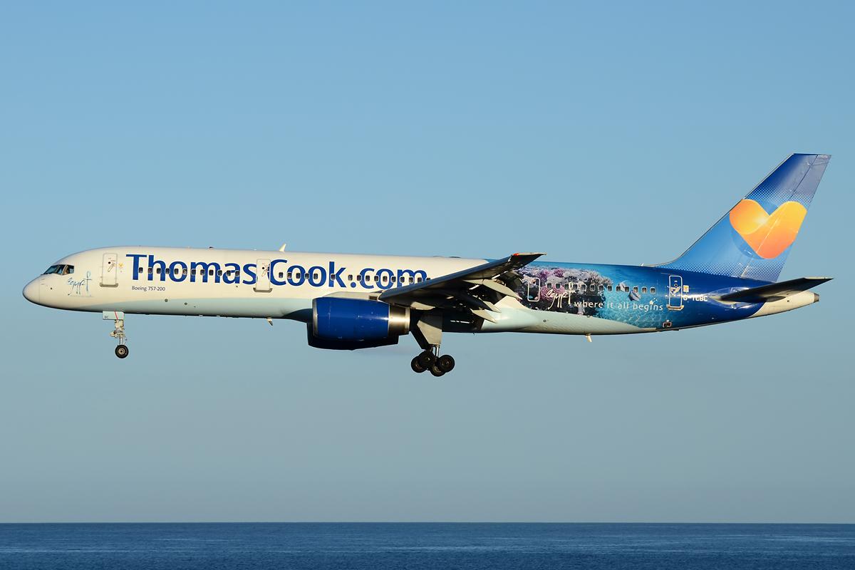 Thomas Cook 757 im Anflug auf Lanzarote!