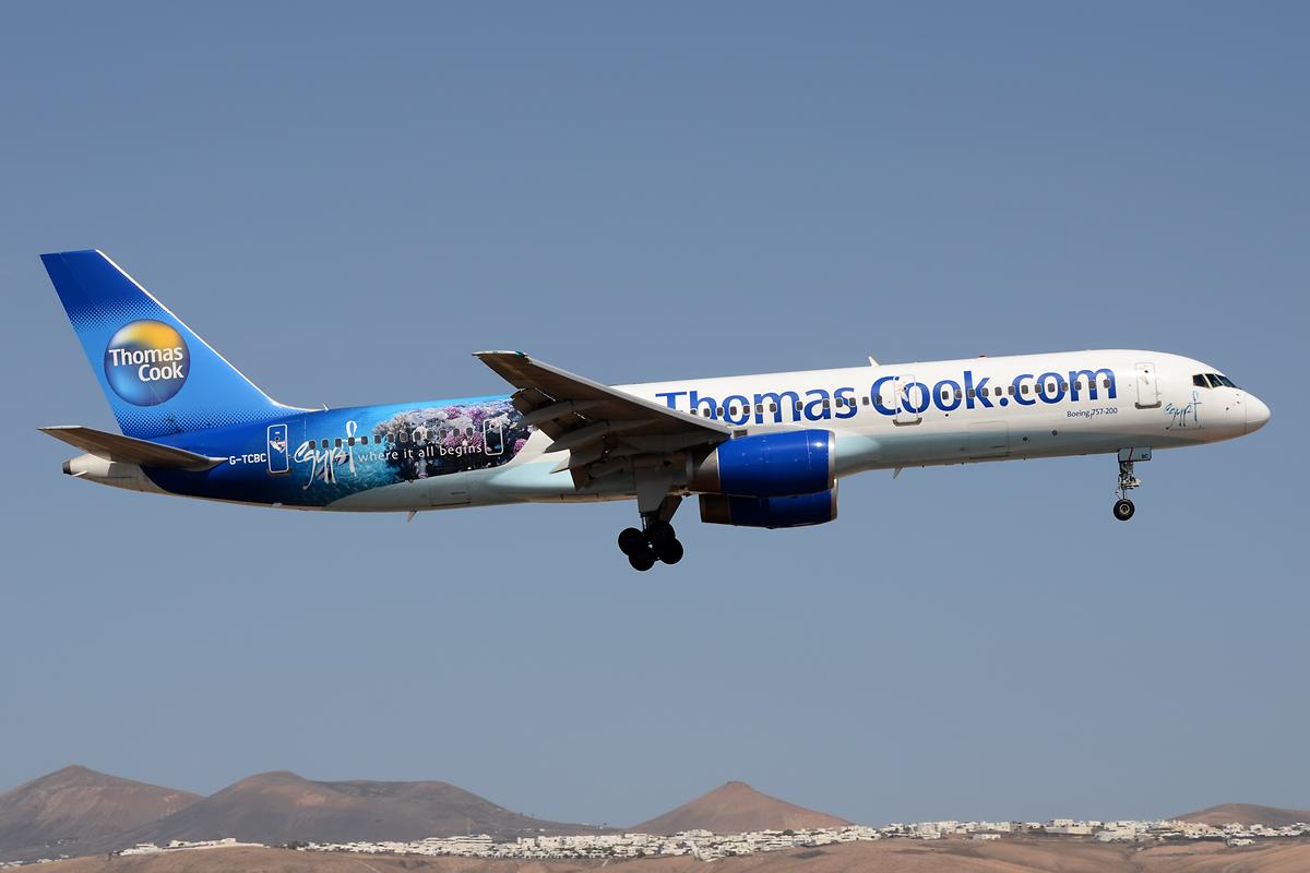Thomas Cook im Anflug auf Lanzarote!