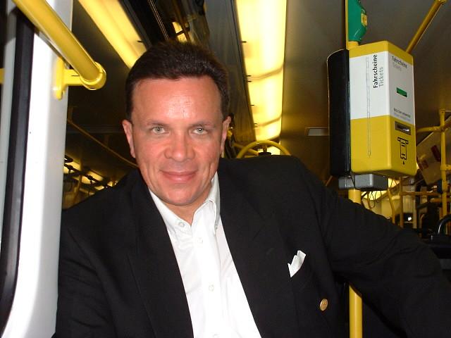 Thomas in der Berliner S-Bahn....
