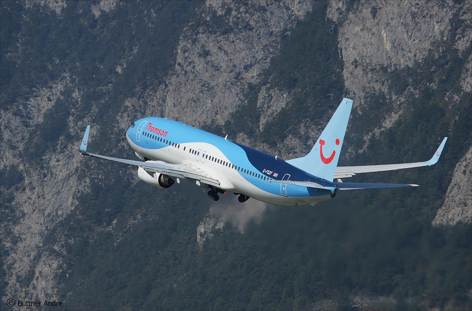 Thomson Airways Boeing 737-8k5