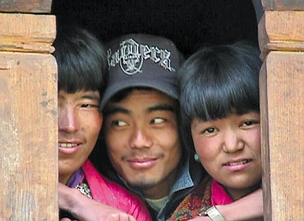Three amiable Bhutaneses