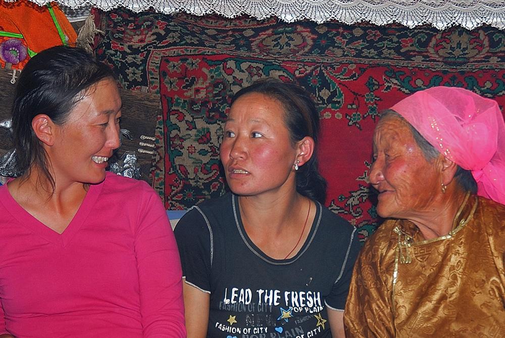 Three Mongolian beauties