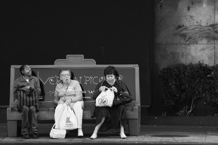 Three women waiting