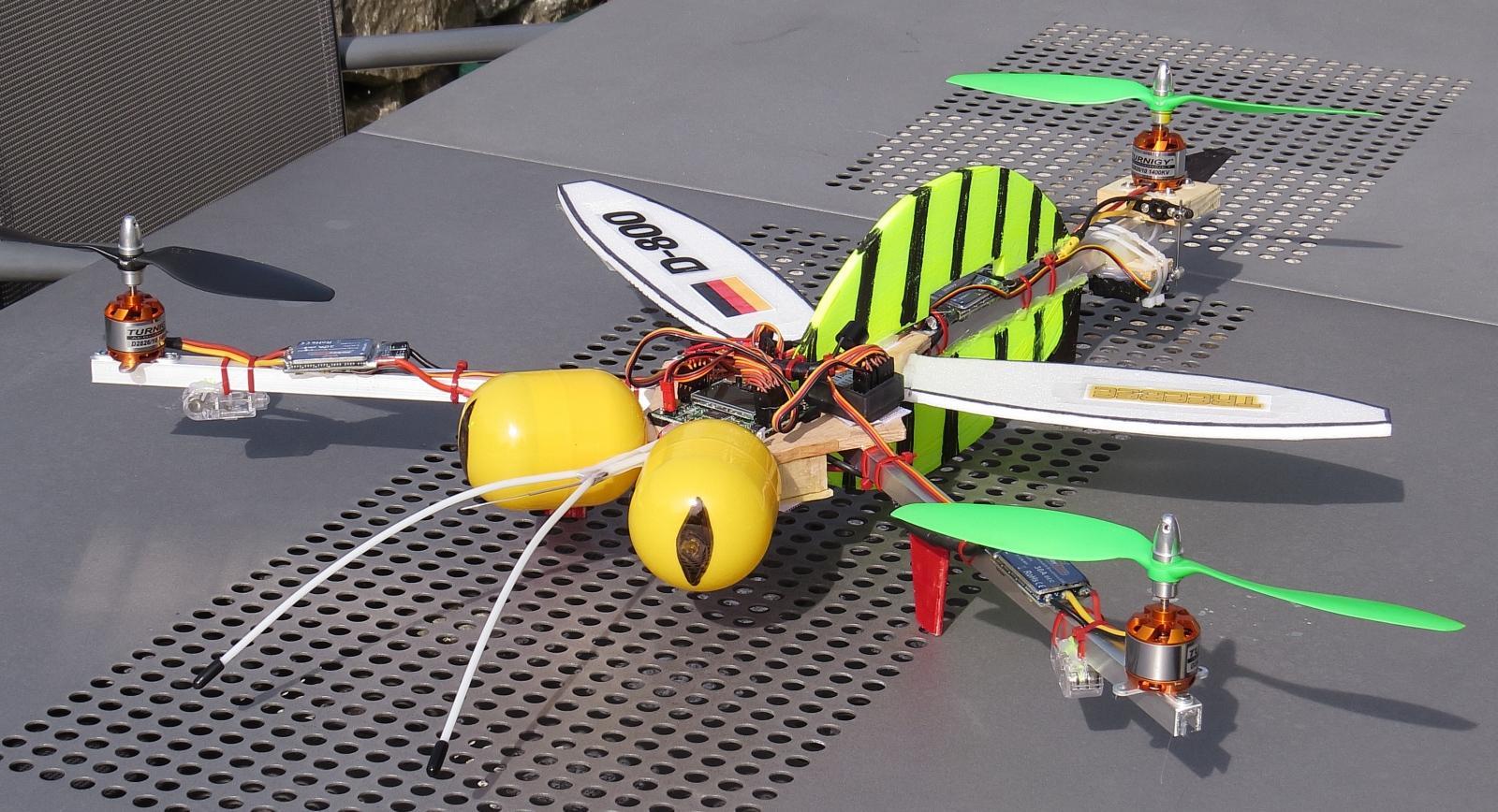 ThreeBee oder Tricopter Biene